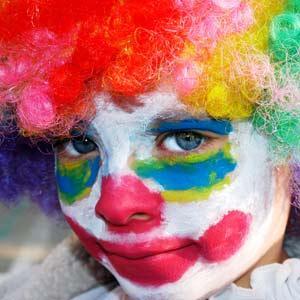 Maquillaje de payasos para niños-2