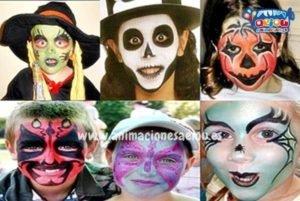pintacaras infantil para Halloween