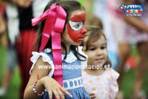 Maquillaje infantil para halloween, spiderman terrorífico
