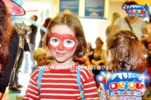 Maquillaje infantil para halloween spiderman terrorífico