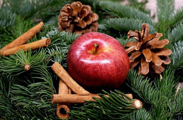 Frutas y naturaleza con ideas para decorar en navidad