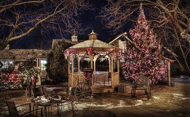 Ideas de decoración con luces de navidad